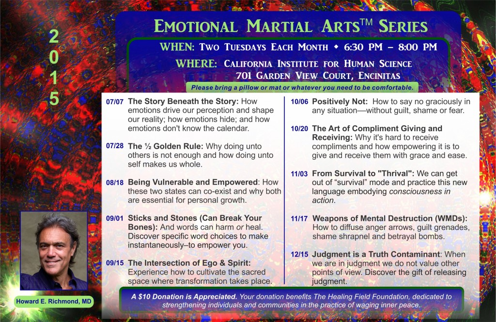 Emotional Martial Arts Postcard EMA till End of 2015