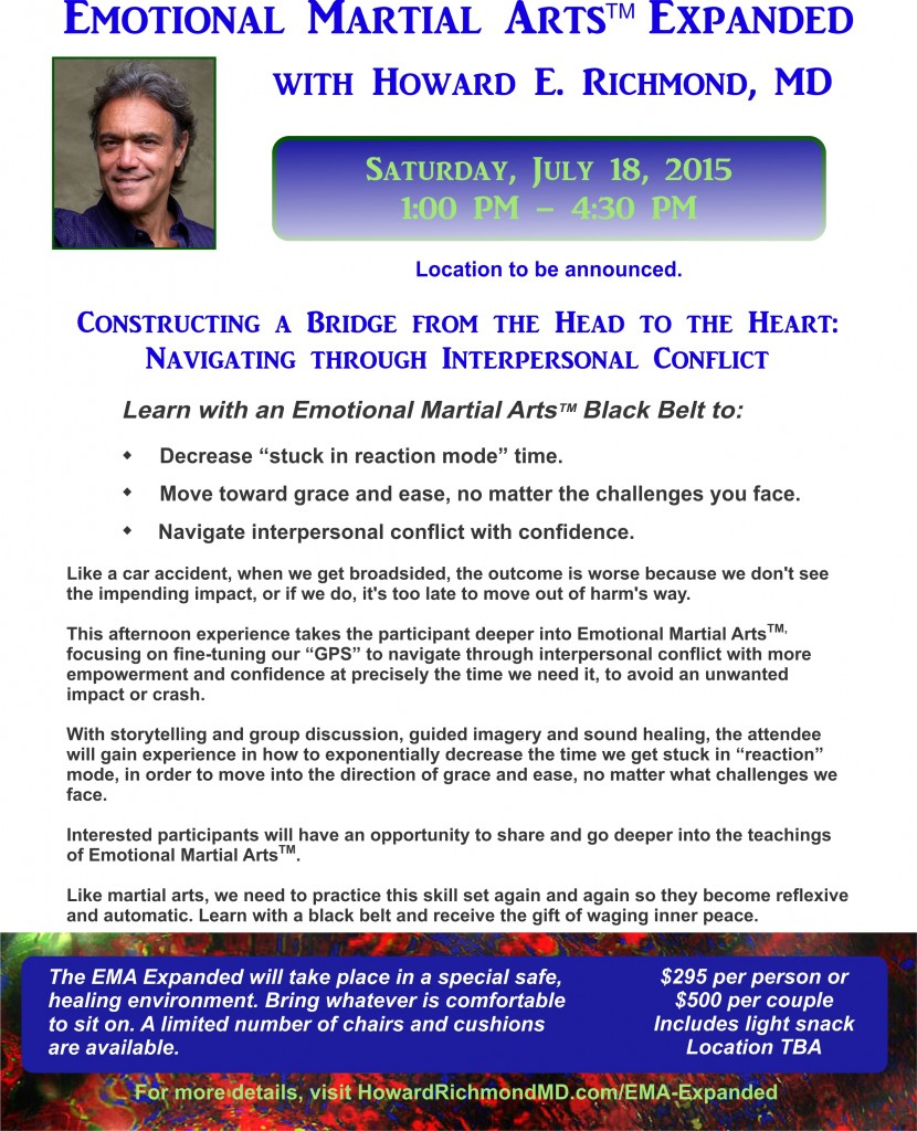 Emotional Martial Arts - Deep Dive July 18 2015 Revised