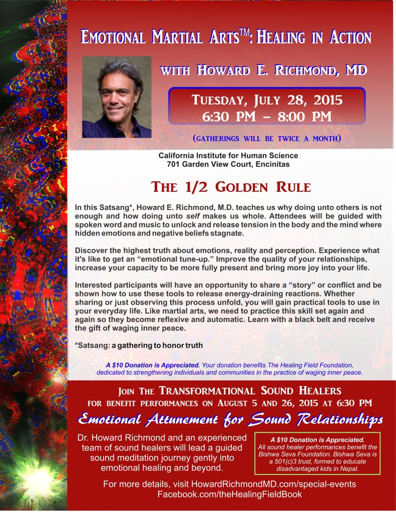 Combined flyer July 28 EMA and August 5 and 26 Sound Healing - Red