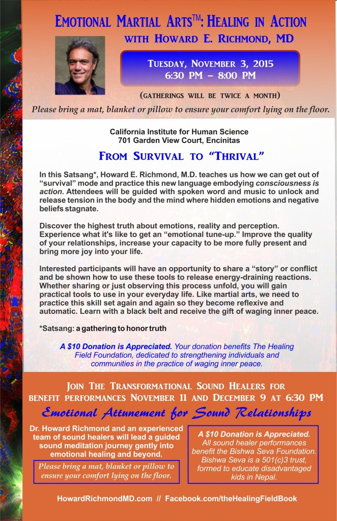 Combined flyer November 3 EMA and November 11 and December 9 Sound Healing