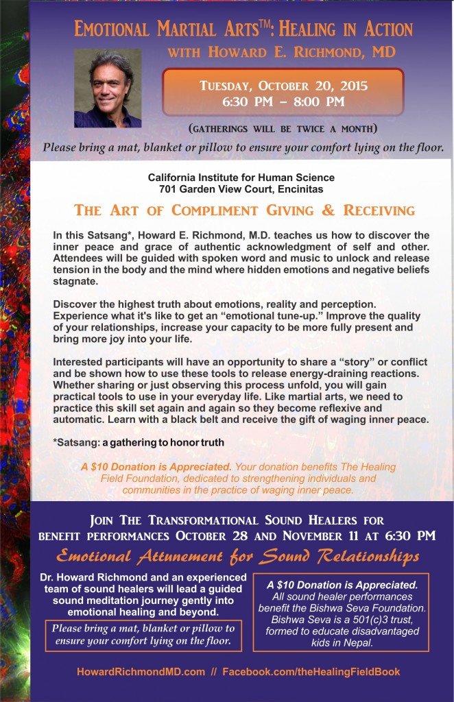 Combined flyer October 20 EMA and October 28 and November 11 Sound Healing