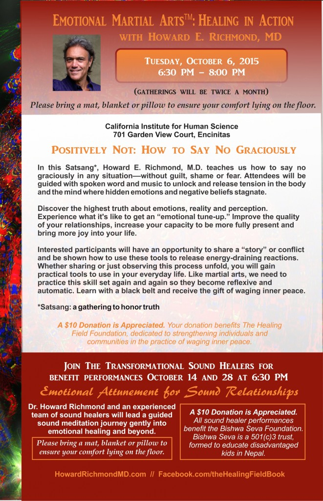 Combined flyer October 6 EMA and October 14 and 28 Sound Healing