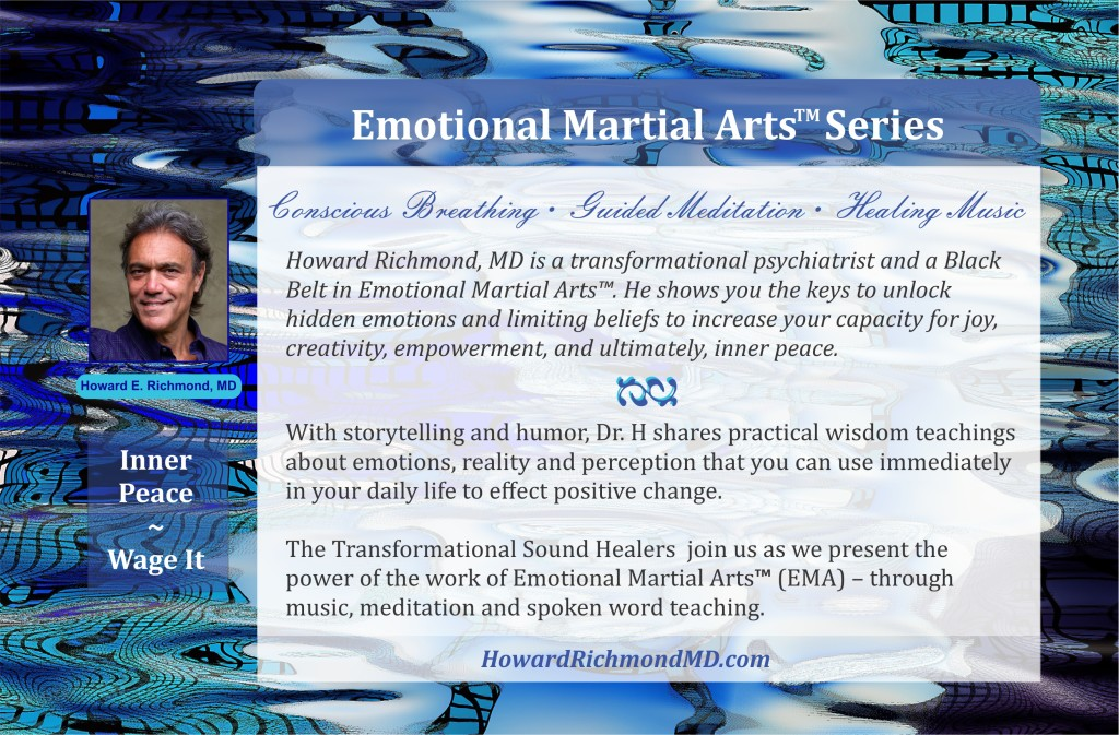 Emotional Martial Arts Postcard Back Side