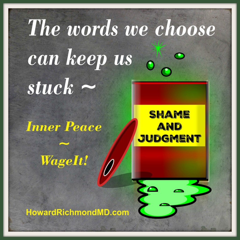 Toxic Words quote card with frame