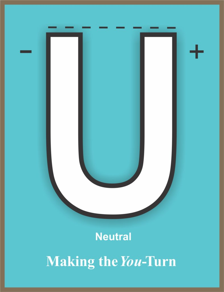 U-Turn Poster Small Turquoise
